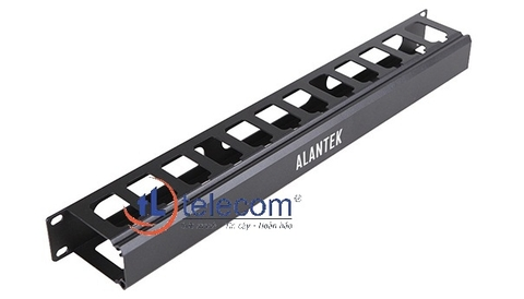 1U Aluminum Cable Management Panel Alantek Part Number: 302-201ACM-1UBL