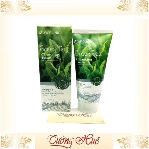 Sữa rửa mặt 3W Clinic Green tea Cleansing Foam - 100ml