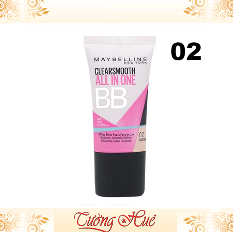 Kem Maybelline Clear Smooth BB Cream SPF 21 PA++ Khoáng Chất 8in1