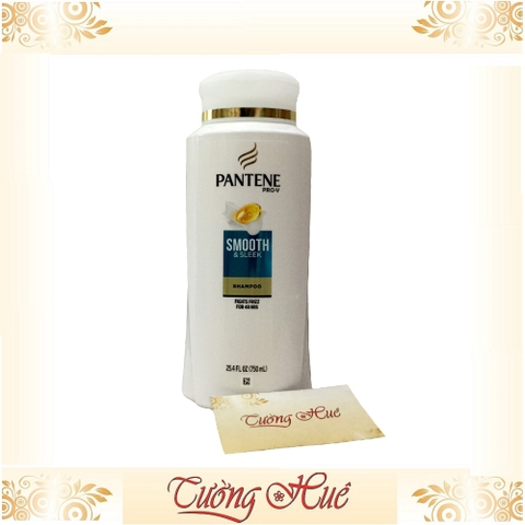 Dầu gội mềm mượt Pantene Pro-V Smooth & Sleek Fights Frizz for 48H Shampoo - 750ml