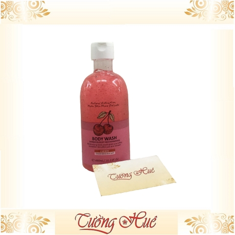 Gel tắm mền mịn da có hạt Heeley Cherry Tender Skin & Silky Sort Body Wash - Cherry - 480ml