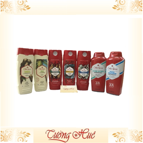 Gel tắm Nam Old Spice Timber with Sandalwood Body Wash - 473ml - trắng
