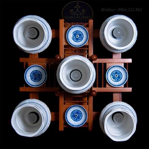 Đèn chùm gốm 5 bóng 6451/5D