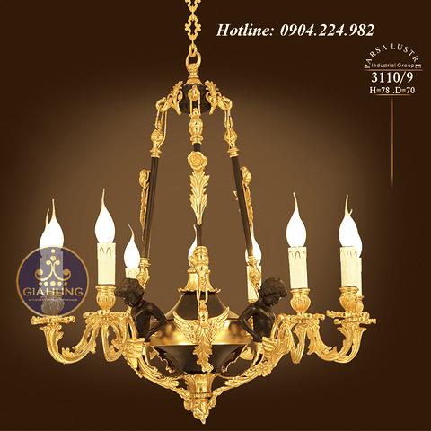Đèn chùm mạ vàng 9999 Thụy Sĩ xuất xứ Tehran - Iran 3110/9