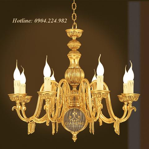 Đèn chùm trang trí mạ vàng 9999 Thụy Sĩ xuất xứ Tehran - Iran 3122/8