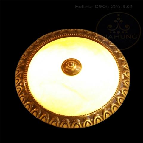 Đèn ốp trần đồng đá nhập khẩu ĐO - B851