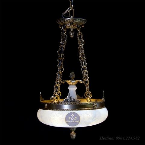 Đèn thả đồng đá 1308/420