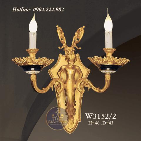 Đèn treo tường mạ vàng 9999 Thụy Sĩ W3152/2