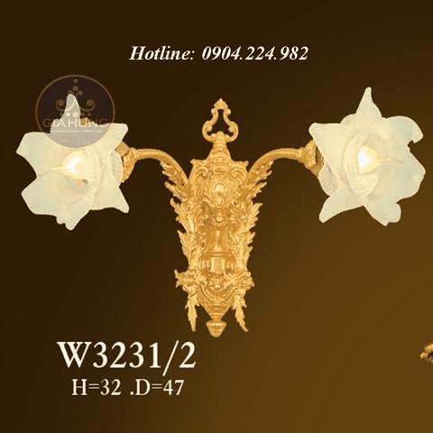 Đèn treo tường mạ vàng 9999 Thụy Sĩ W3231/2