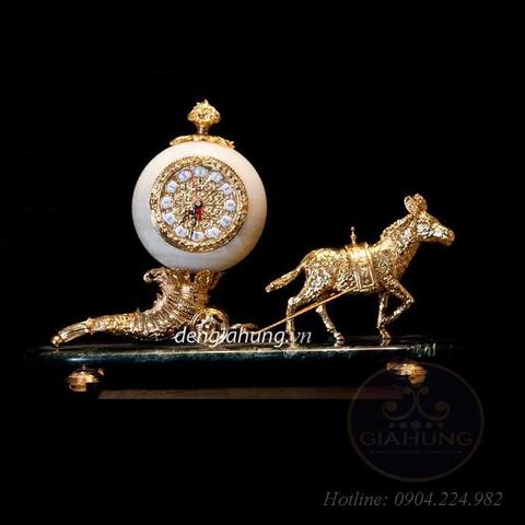 Đồng hồ trang trí mạ vàng 205