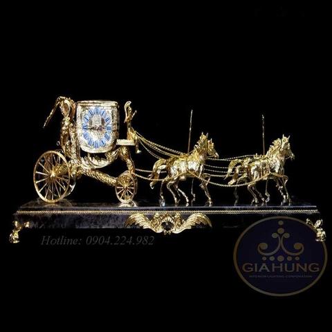 Đồng hồ trang trí mạ vàng 3305-4