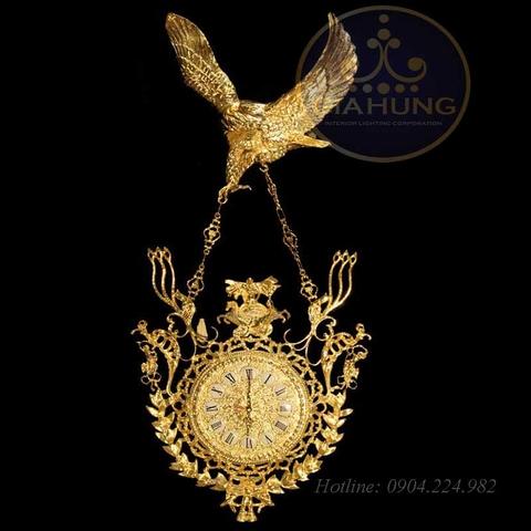 Đồng hồ trang trí mạ vàng 9966