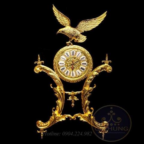 Đồng hồ trang trí mạ vàng 9980