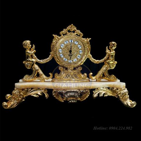 Đồng hồ mạ vàng trang trí S000538