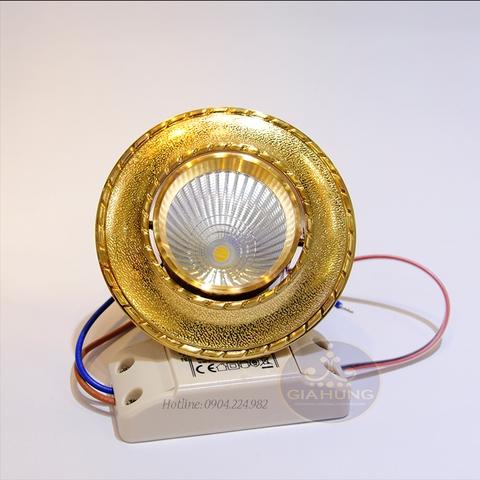 Đèn led âm trần mạ vàng COB5016-5w