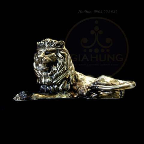 Tượng đồng sư tử S000800