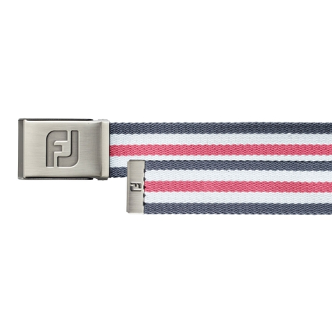 Dây lưng golf CANVAS BELT CHARCOAL/WHITE/PINK
