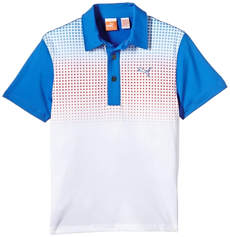 Áo golf trẻ em  Puma Tech Polo Jr- S.Blue/Puma Red 56847103 (JA15)