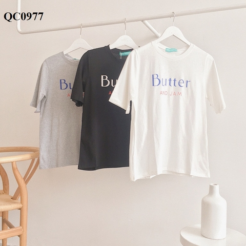 QC0977 - Aó thun Butter and Jam - SỈ 145K