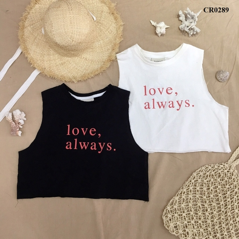 CR0289 - ÁO XƯỢC TANKTOP IN LOVE ALWAYS - SỈ 95K