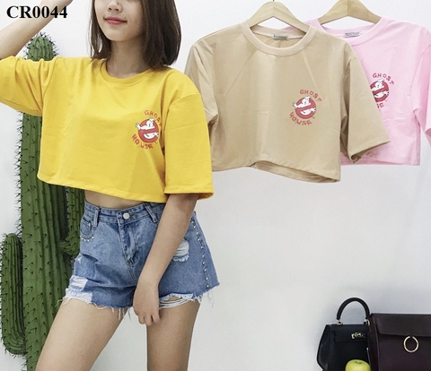 CR0044-Áo croptop tay lỡ GHOST MOUSE - SỈ 65K