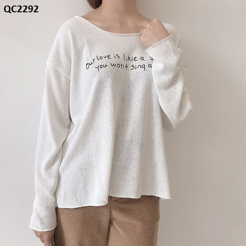 QC2292 - ÁO LEN OUR LOVE IS LIKE SONGYT - SỈ 130K
