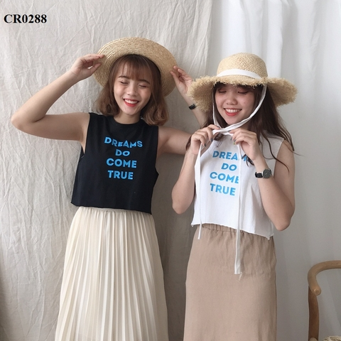 CR0288 - ÁO XƯỢC TANKTOP IN DREAM DO COME TRUE - SỈ 95K