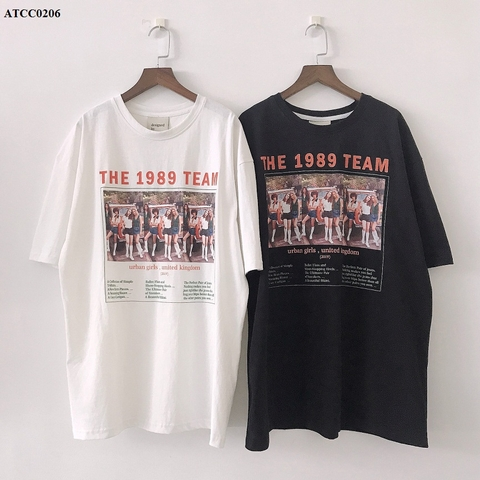 ATCC0206 - ÁO THUN COTTON XƯỢC IN THE 1989 TEAM - SỈ 185K