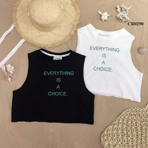 CR0290 - ÁO XƯỢC TANKTOP IN EVERYTHING - SỈ 95K