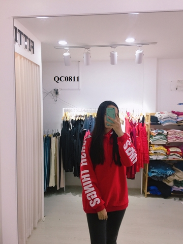 QC0811 - Hoodie nón in tay LAIHSH THINGS - SỈ 160K