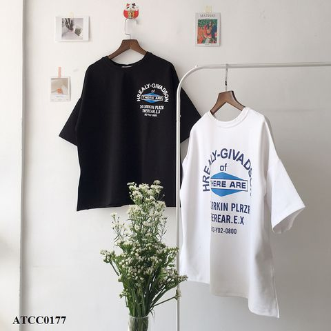 ATCC0177 - ÁO COTTON XẺ TÀ IN THERE ARE - sỉ 110k