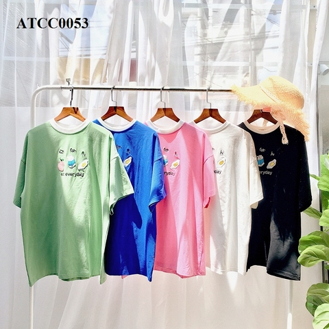 ATCC0053-ÁO THUN COTTON 100% IN EAT ERYDAY - SỈ 105K