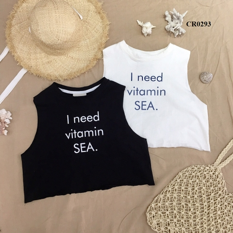 CR0293 - ÁO XƯỢC TANKTOP IN VITAMIN SEA - sỉ 95k