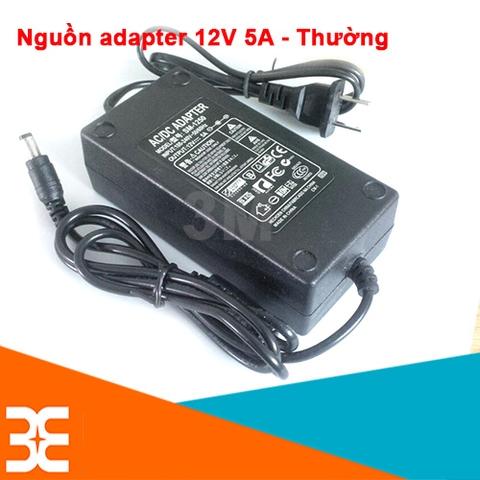 Nguồn Adapter 12V-5A 5.5*2.1MM Thường