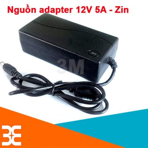 Nguồn Adapter 12V-5A 5.5*2.1 MM Zin