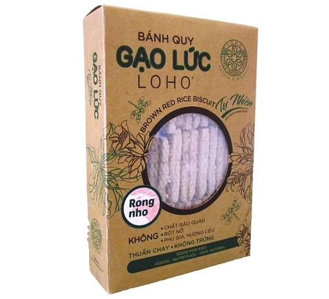 LOHO Brown Rice Biscuit 380g Box (Lotus/Seaweed)
