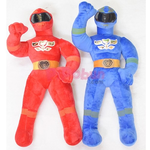 Couple Siêu nhân Xanh và Đỏ Power Rangers Pipobun size 60cm