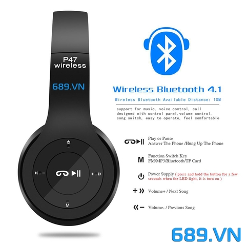 Tai Nghe Bluetooth P47 Wireless Headphones