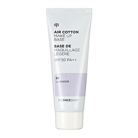 Kem Lót Air Cotton Makeup Base The Face Shop 02 Lavender