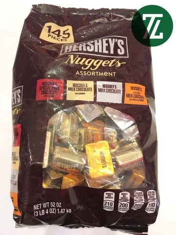 Socola Hershey Nuggets Assortment 145 Pieces 1.47kg (Gói)
