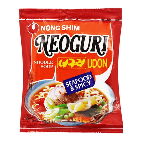 Combo 10 Mì Nong Shim Neoguri Udon Seafood& Spicy 120g