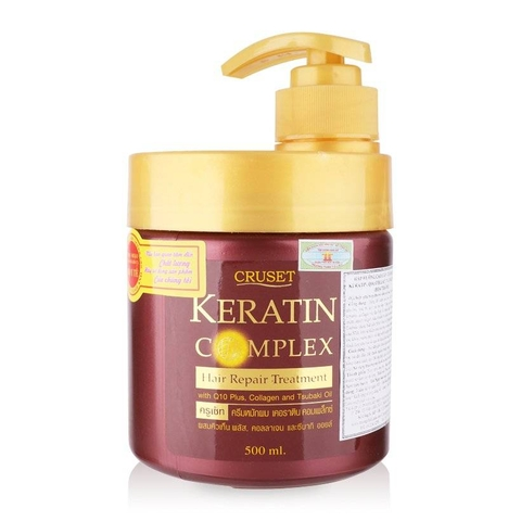 Ủ Tóc Cruset Keratin Complex Hair Repair Treatment Thái Lan 500ml