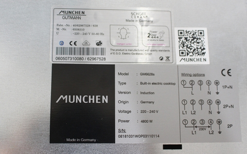 Bếp từ Munchen GM6628S - Made in Germany