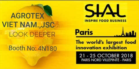 INVITATION LETTER TO SIAL PARIS 2018
