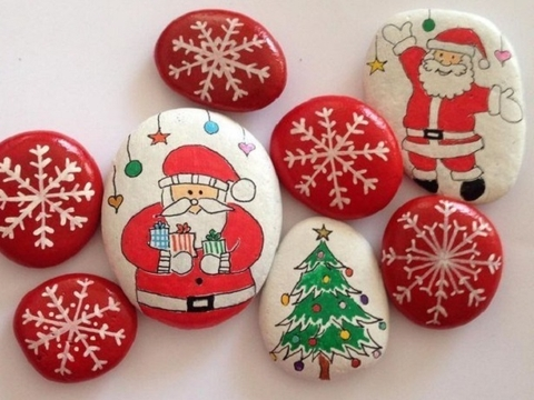 White Pebble Stone For Decoration Christmas