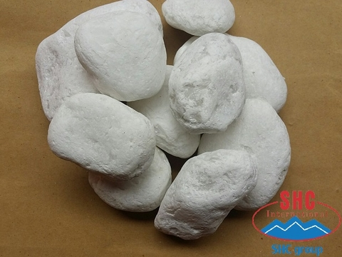 Exporting Snow White Pebble Stone 5-8cm Shipment To America