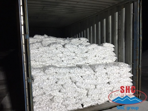 Shipment Of Snow White Pebble For New Customer