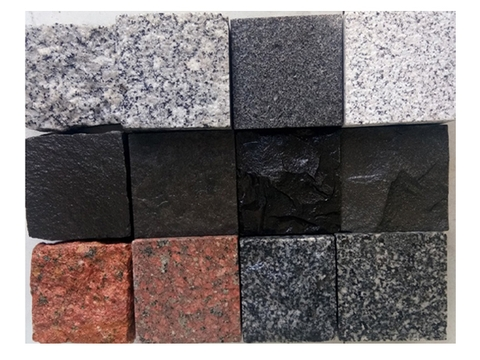 Multiple Color Granite Cube Stone Pavers