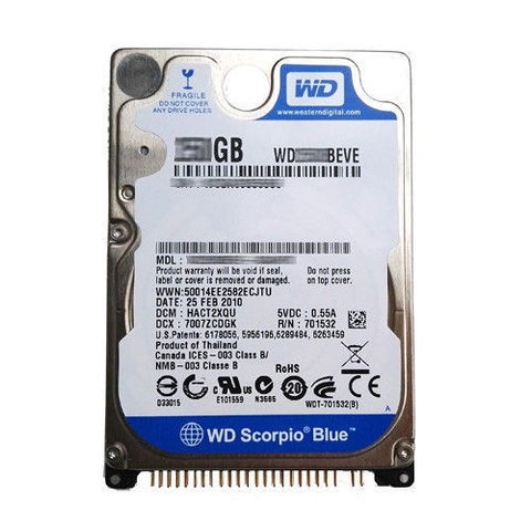 Ổ cứng Laptop HDD WD 250GB WD2500BEVE 2.5