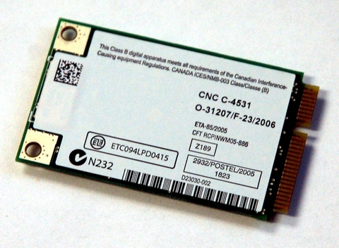 Card Wifi Laptop Sony Vaio VGN-SZ FE / WIRELESS WIFI CARD 141764111